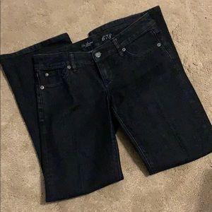 Dark jeans bootcut. Stretch size 2 short